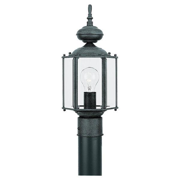 Classico Black Outdoor Post Lantern, image 1