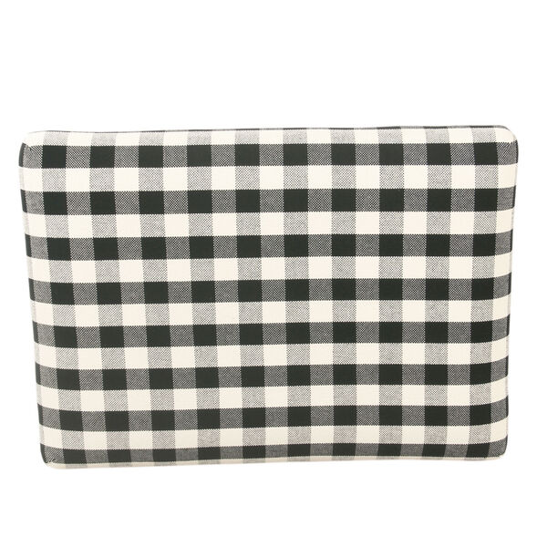 Black and White 22-Inch Ottoman, image 5