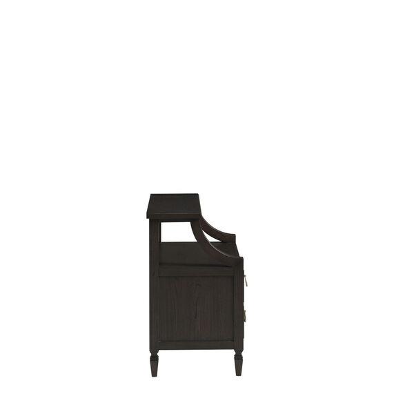 Espresso One-Drawer Wood Nightstand, image 4