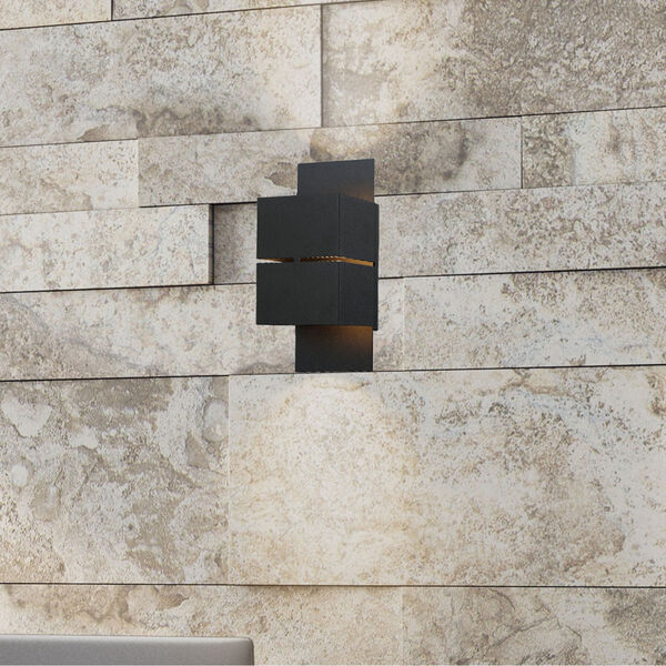 Kibea Matte Black Two-Light LED Outdoor Wall Sconce, image 5