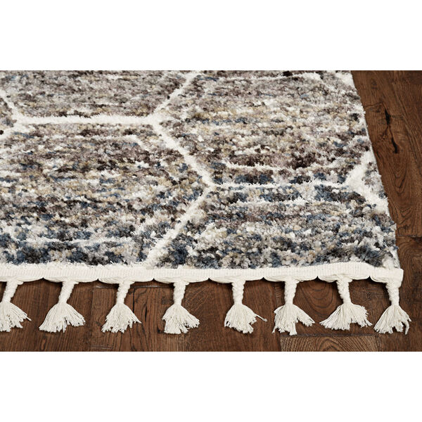 Bungalow Gray and Teal Runner: 2 Ft. 2 In. x 7 Ft. 6 In. Rug, image 2