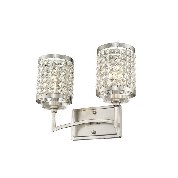 Grammercy Brushed Nickel 14.5-Inch Two-Light Bath Light, image 6
