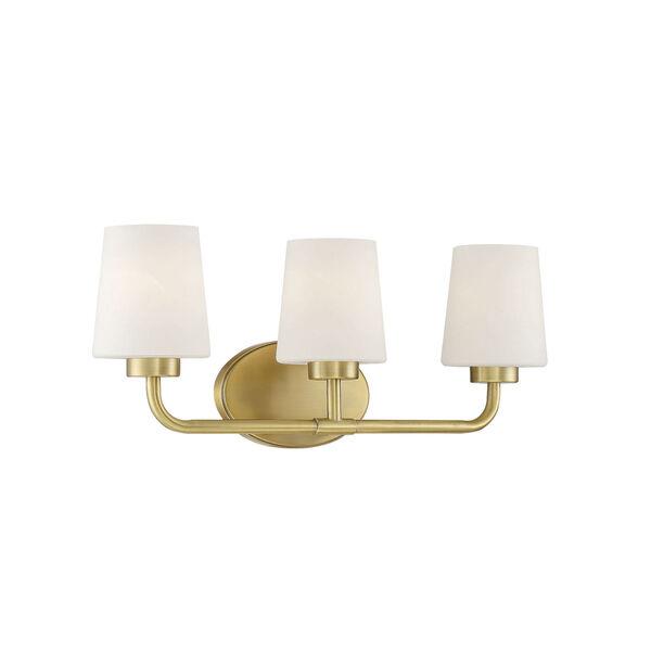 Capra Warm Brass Three-Light Bath Vanity, image 3