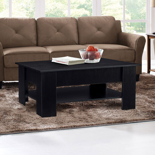 Black 24-Inch Coffee Table, image 2