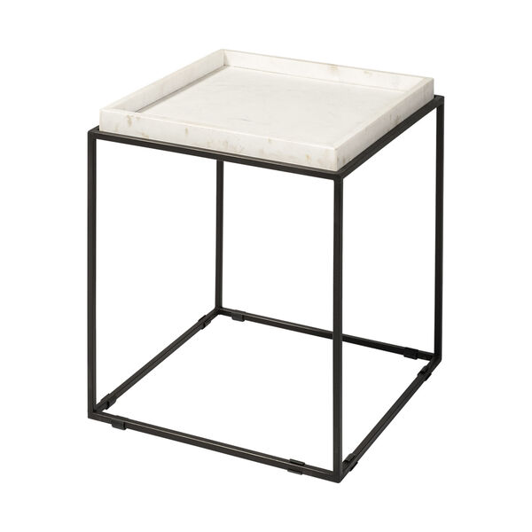 Nathan II Black and White Square Top End Table, image 1