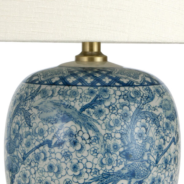 20-inch Classic Blue and White Porcelain Jar Lamp, image 2