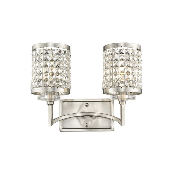 Grammercy Brushed Nickel 14.5-Inch Two-Light Bath Light, image 1
