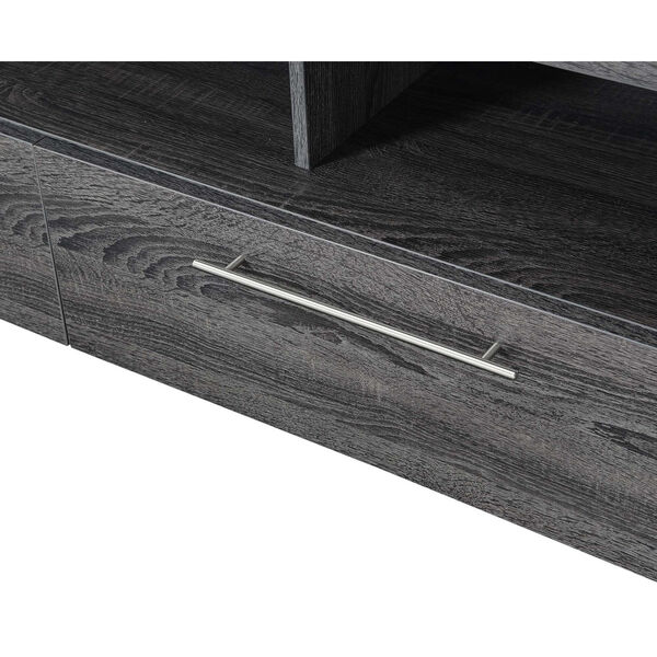 Newport Weathered Gray MDF 60-Inch Marbella TV Stand, image 4