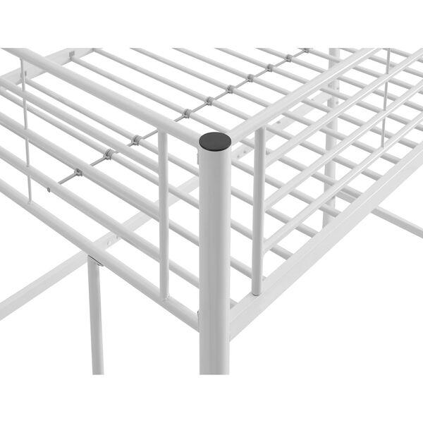 Sunset White Metal Twin Loft Bunk Bed, image 5