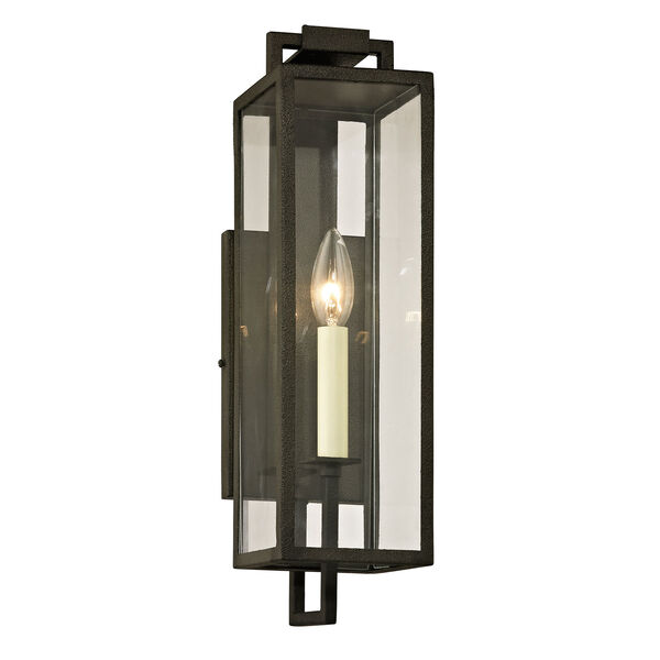 Beckham Forged Iron One-Light Outdoor Wall Sconce with Dark Bronze, image 1