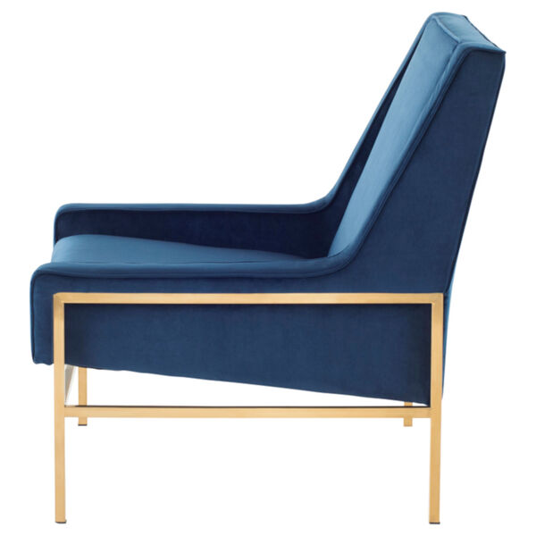 Theodore Peacock and Gold Occasional Chair, image 3