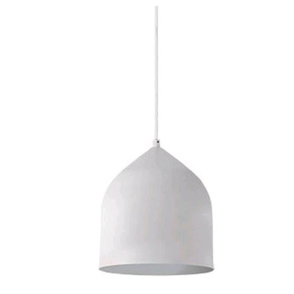 Helena White with Silver Seven-Inch One-Light LED Mini-Pendant, image 1