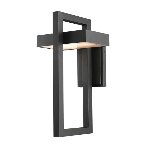 Luttrel Black LED Outdoor Wall Sconce, image 1