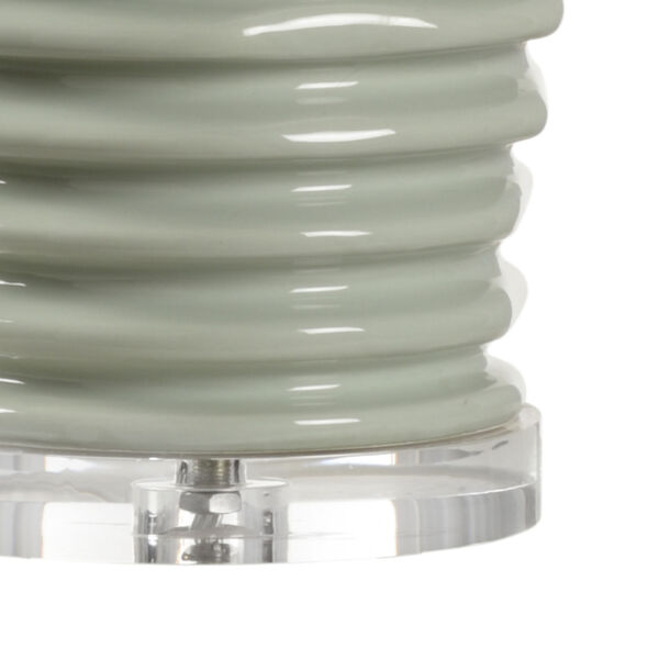 Colorado Mint Green and Polished Nickel One-Light Table Lamp, image 2