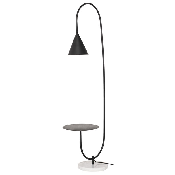 Arnold Matte Black One-Light Floor Lamp, image 5