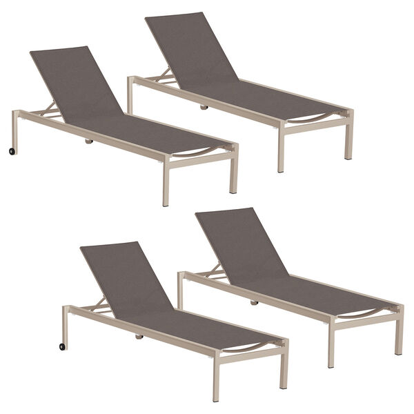 Ven Cocoa Chaise Lounge, Set of Four, image 1