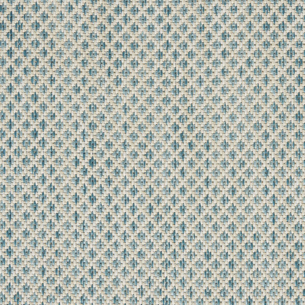 Courtyard Ivory and Aqua 6 Ft. x 9 Ft. Rectangle Indoor/Outdoor Area Rug, image 6