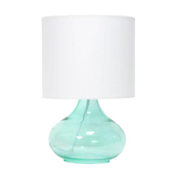 Cerise Aqua White One-Light Raindrop Table Lamp, image 1