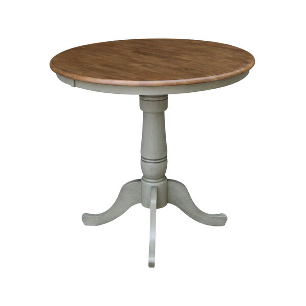 Hickory and Stone 36-Inch Width x 35-Inch Height Hardwood Round Top Counter Height Pedestal Table, image 2