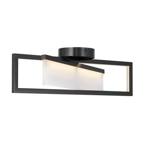 Folio Black LED Flush Mount, image 1