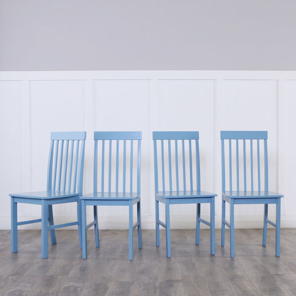 Greyson 5-Piece Dining Set - White/Powder Blue, image 3