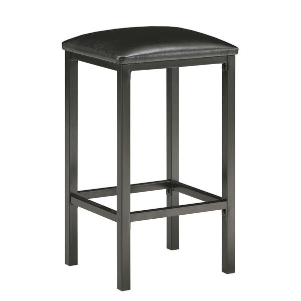 Rosa Black Three-Piece Counter Height Table Set with Marble Top, image 4