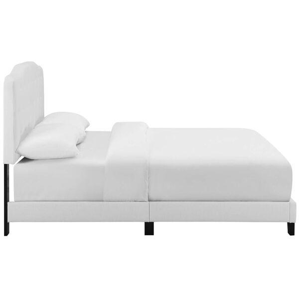 Whittier White Full Upholstered Fabric Bed, image 3