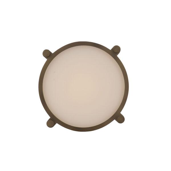 Wright Aged Brass 14-Inch LED Flush Mount, image 2