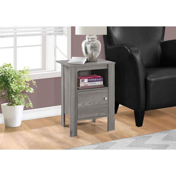 Grey Night Stand with Storage, image 1