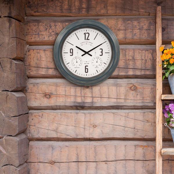 Blue Metal Outdoor Wall Clock, image 4