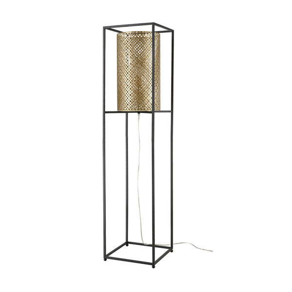 Gavia Antique Gold and Black One-Light Floor Lamp, image 2