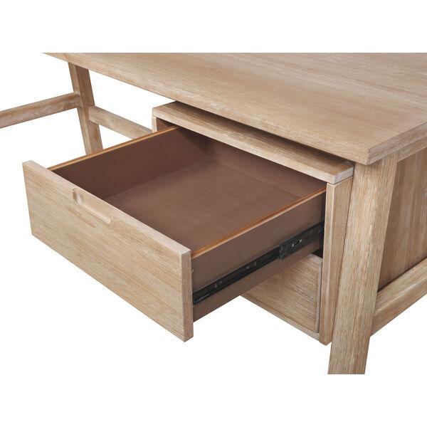 Santiago Natural Desk with Side Storage, image 5