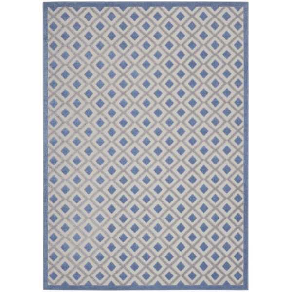 Aloha Blue and Gray Indoor/Outdoor Area Rug, image 2