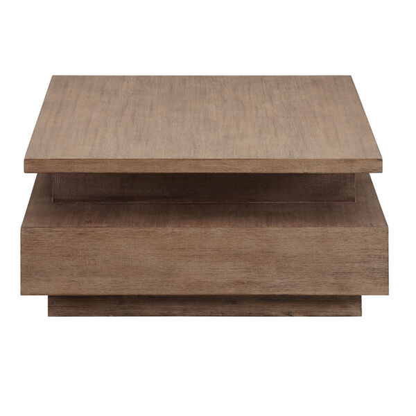 Slade Natural Rectangular Cocktail Table with casters, image 3