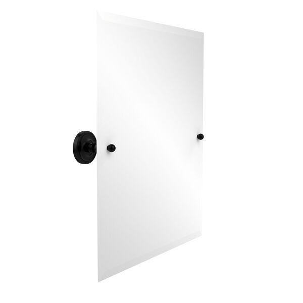 Frameless Rectangular Tilt Mirror with Beveled Edge, image 1