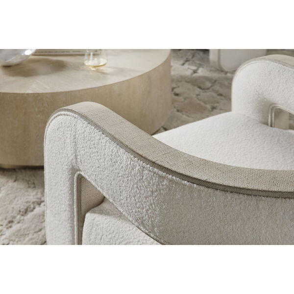 Cascade Lacquered Burlap Accent Chair, image 5