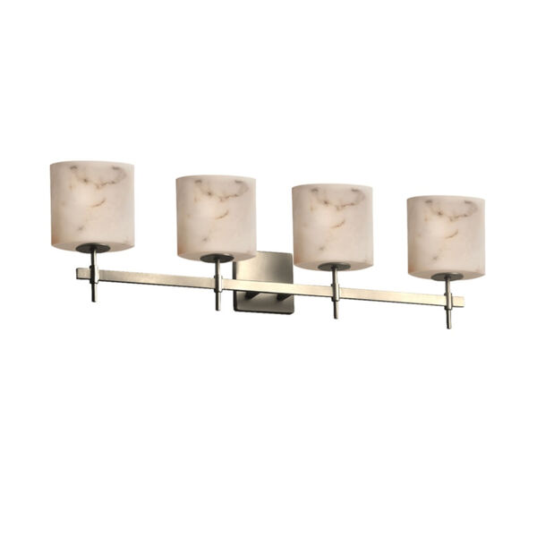 LumenAria Brushed Nickel Four-Light Bath Vanity, image 1