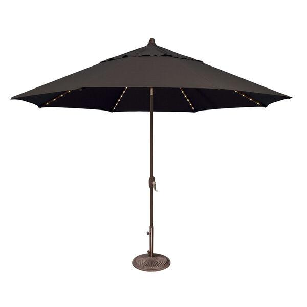 Lanai Pro Black Octagon Auto Tilt Market Umbrella, image 1
