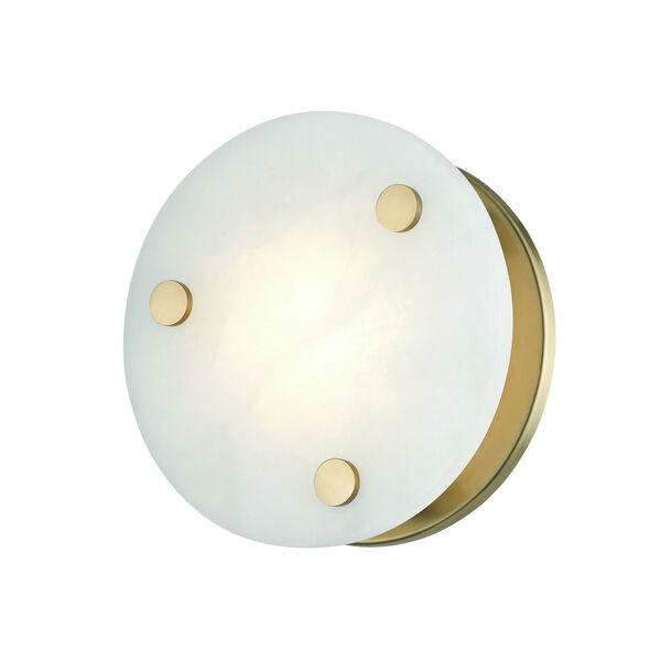 Croton Aged Brass Nin-Inch LED Flush Mount, image 3