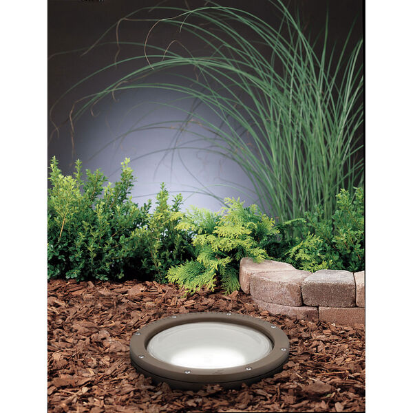 Architectural Bronze Line Voltage One-Light Landscape Well Light, image 1