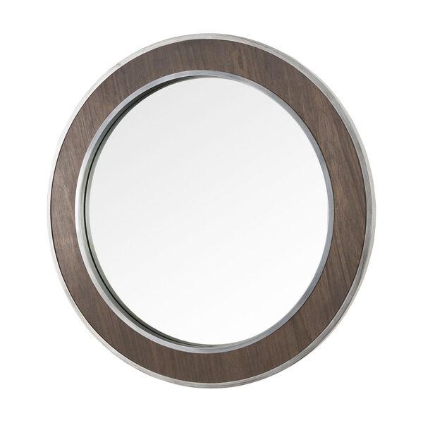 Macie Farmhouse Steel Round Wall Mirror, image 3