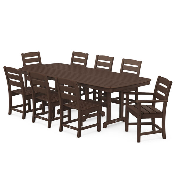 Lakeside Mahogany Patio Dining Set, 9-Piece, image 1