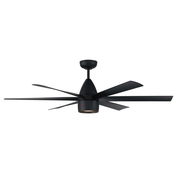 Quirk Flat Black 54-Inch LED Ceiling Fan, image 3