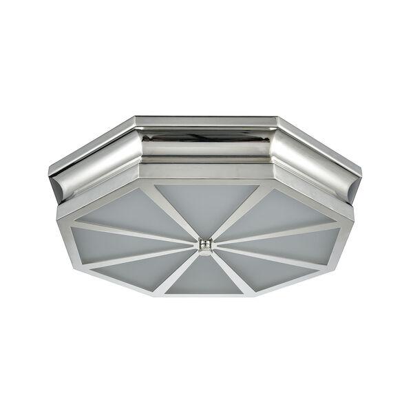 Windsor Polished Nickel 20-Inch Three-Light Flush Mount, image 5
