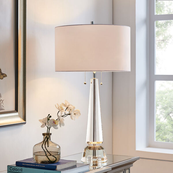 Eloise Crystal White Two-Light Table Lamp, image 3