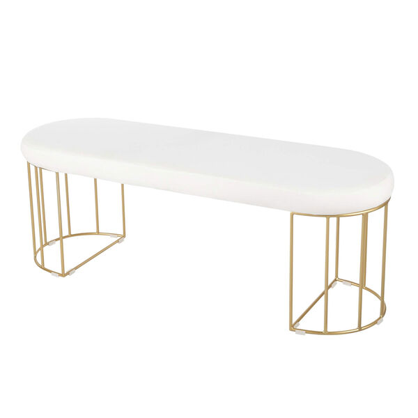 Canary Gold and White Bench, image 3