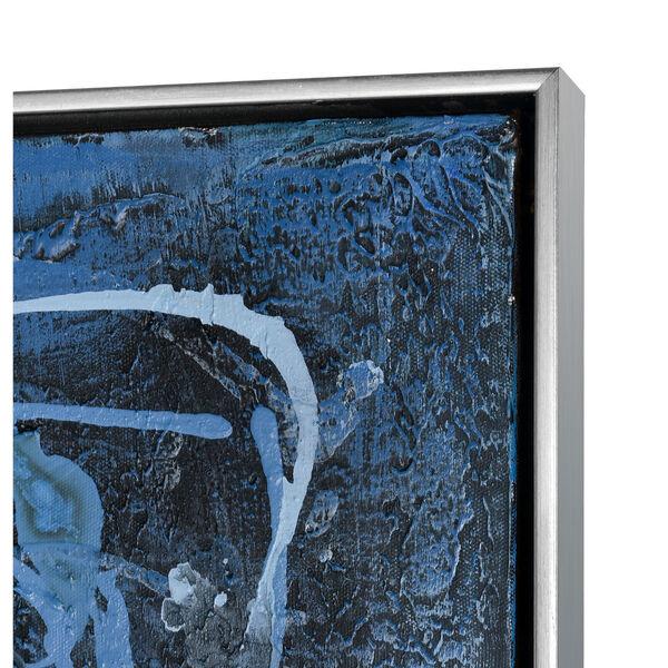 Acrylic Blue Rhythm Framed Wall Art, image 3