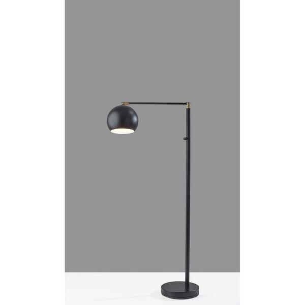 Ashbury Black Antique Brass Accent One-Light Floor Lamp, image 4