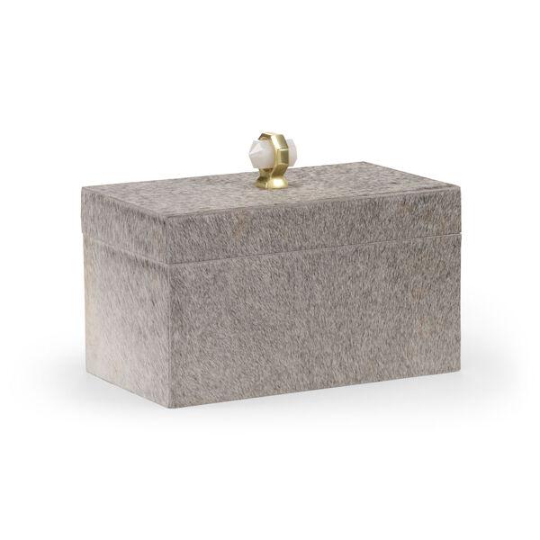 Gray 12-Inch Hyde Lodge Box, image 1