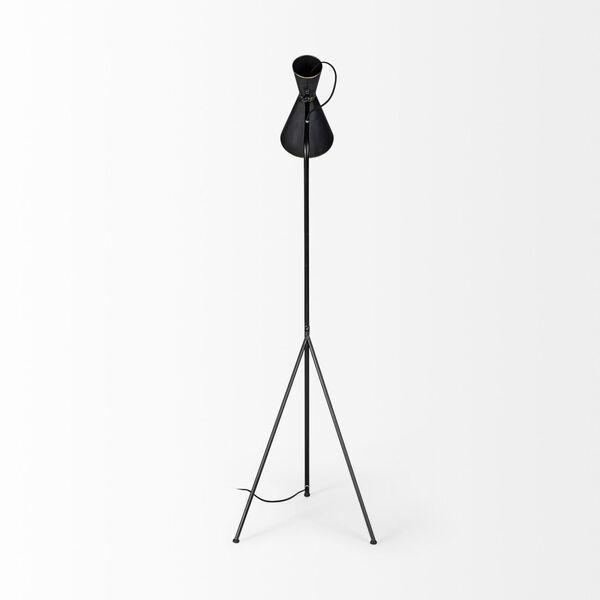 Eris III Black and Brass One-Light Floor Lamp, image 6